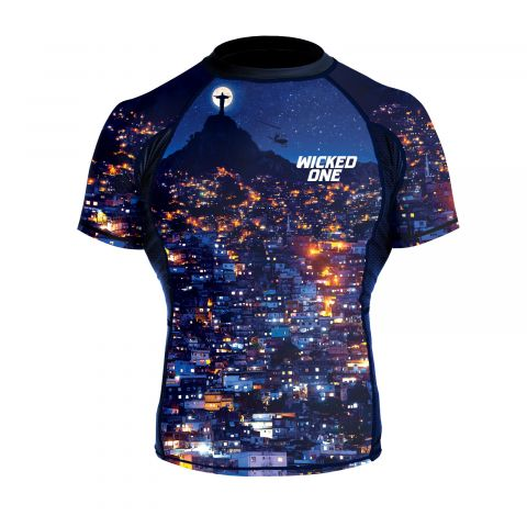 Rashguard Wicked One Favela - Bleu Marine