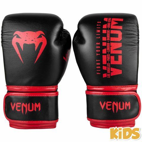 Gants de boxe Enfant Venum Signature Kids - Noir/Rouge