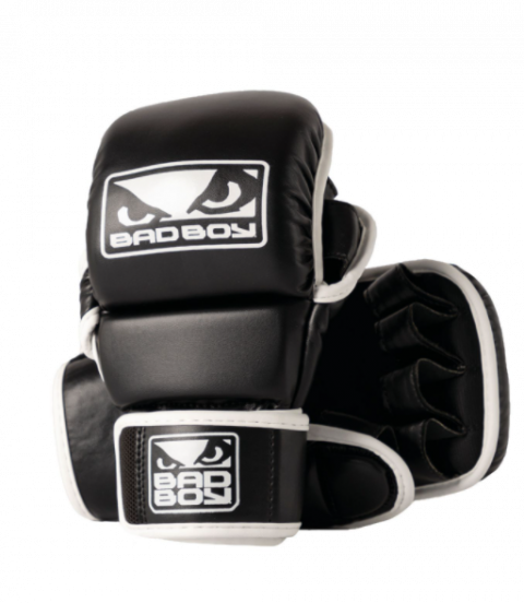 Gants de Sparring MMA Bad Boy - Noir/Blanc