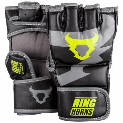 Gants de MMA Ringhorns Charger - Noir/Jaune Fluo