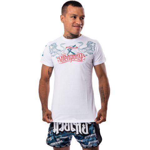 T-shirt 8 Weapons One Body Sak Yant - Blanc