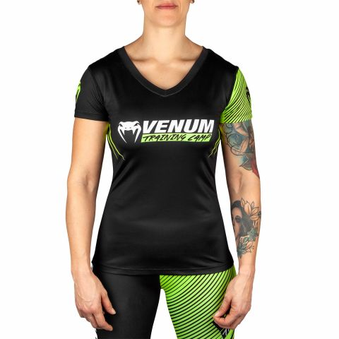 T-shirt Femme Venum Training Camp 2.0 - Noir/Jaune Fluo - Exclusivité