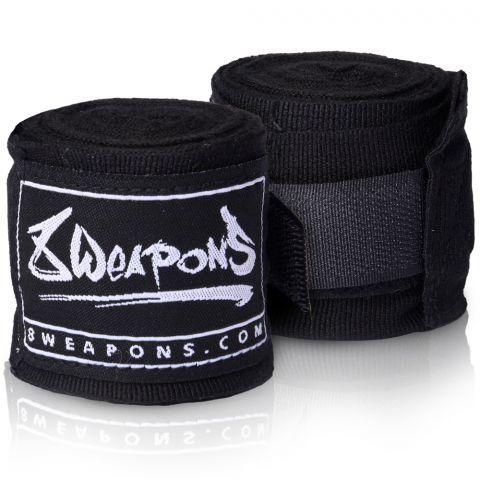 Bandages de boxe semi-élastique 8 Weapons - 3.5 mètres - Noir
