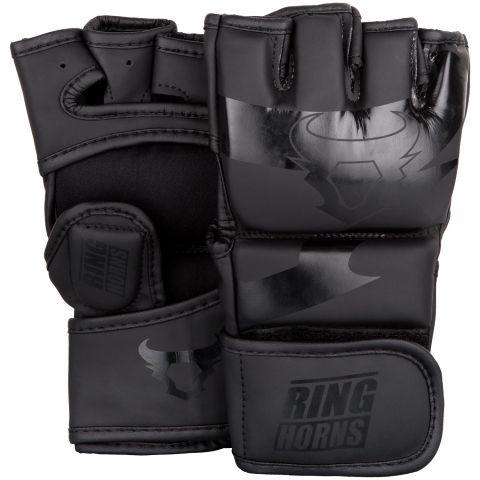 Gants de MMA Ringhorns Charger - Noir/Noir