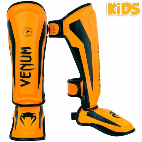 Protège-Tibias enfant Venum Elite - Orange fluo (Neo)