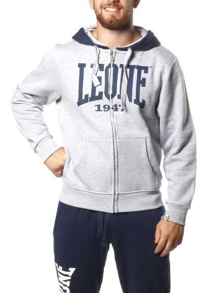 Sweatshirt à zip Leone - Gris
