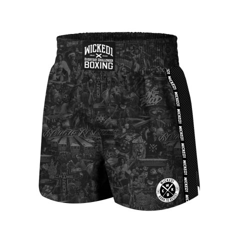Short de Boxe Wicked One BTR - Noir