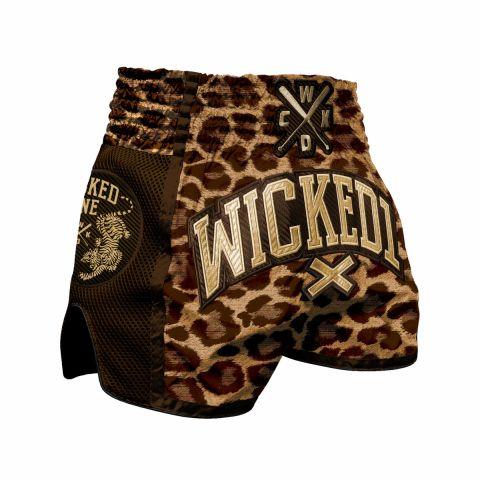 Short de Muay Thai Wicked One Leopard - Orange
