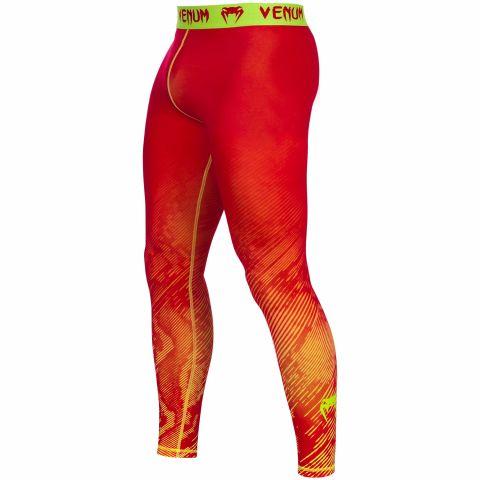 Pantalon de compression Venum Fusion - Orange/Jaune