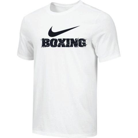 T-shirt d'entraînement Nike - BOXING - Blanc/Noir
