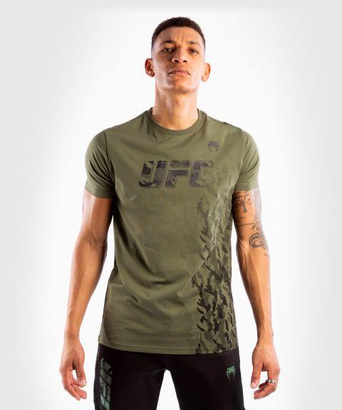T-shirt Manches Courtes en Coton Homme UFC Venum Authentic Fight Week - Kaki