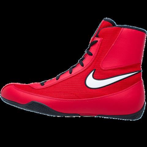 Chaussures de boxe semi-montantes Nike Machomai 2  - Rouge/Blanc