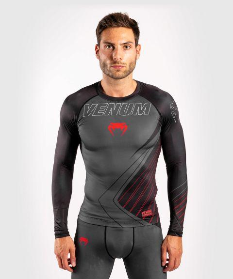 T-shirt de compression Contender 5.0 - Manches longues - Noir/Rouge