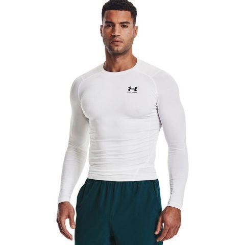 T-shirt Under Armour HeatGear® Armour - Manches Longues - Blanc