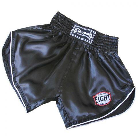 Short Muay Thai 8 Weapons Retrofight - Noir/Blanc