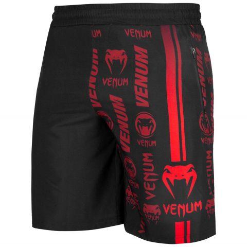 Short de sport Venum Logos - Noir/Rouge