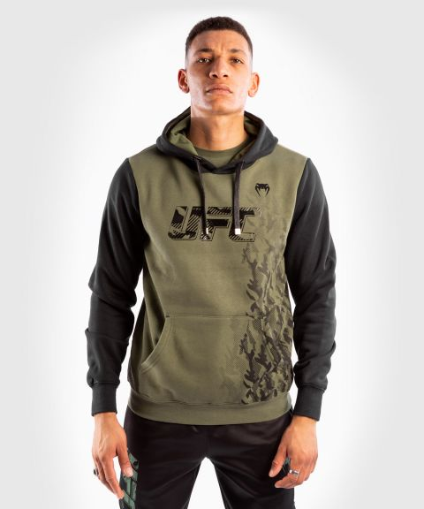 Sweatshirt à Capuche Homme UFC Venum Authentic Fight Week - Kaki