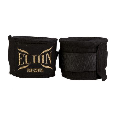 Bandages de boxe Pro Elion - 4,5 mètres - Noir