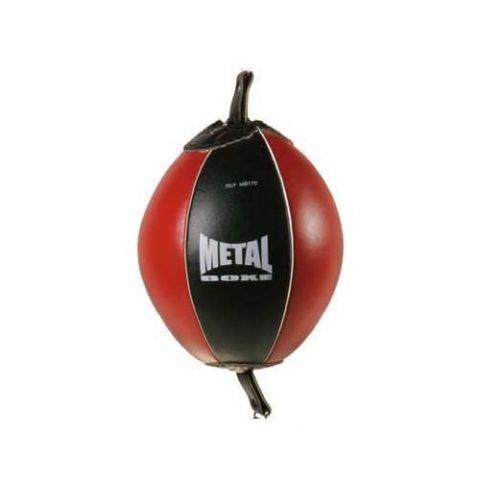 Ballon de frappe double élastique Metal Boxe - Noir/Rouge