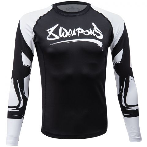 Rashguard 8 Weapons Big 8 - Noir/Blanc