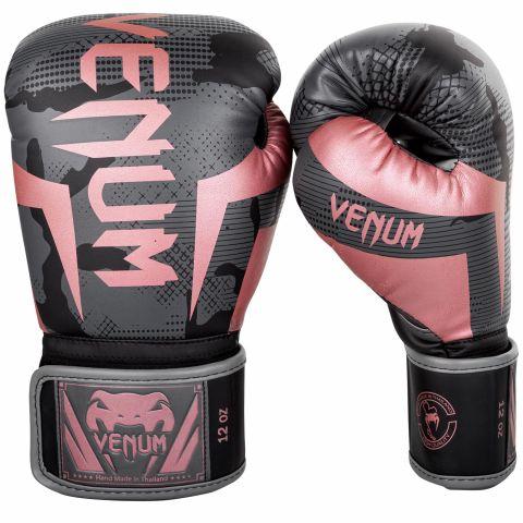 Gants de boxe Venum Elite - Noir/Or rose