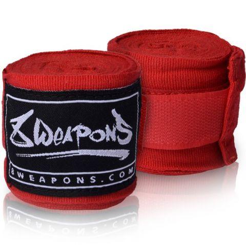 Bandages de boxe semi-élastique 8 Weapons - 3.5 mètres - Rouge