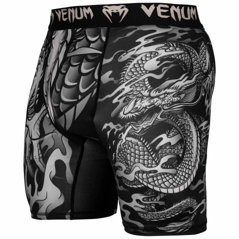 Short de compression Venum Dragon's Flight - Noir/Sable