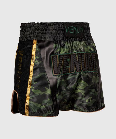 Short de Muay Thai Venum Full Cam - Forest Camo/Noir