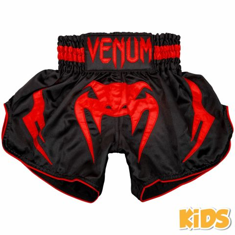Short de Muay Thaï Venum Bangkok Inferno Kids - Noir/Rouge