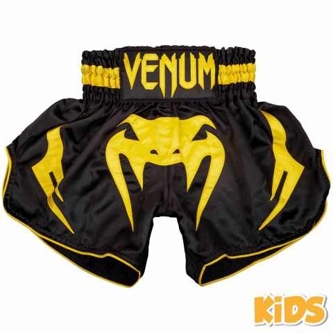 Short de Muay Thaï Venum Bangkok Inferno Kids - Noir/Jaune