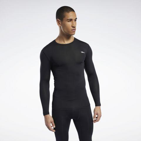 T-shirt de Compression Reebok Workout Ready - Manches Longues - Noir