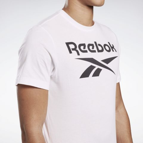 T-shirt Reebok Stacked - Blanc/Noir