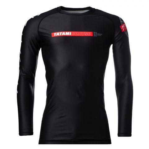 T-shirt de Compression Tatami Fightwear Global - Manches Longues - Noir