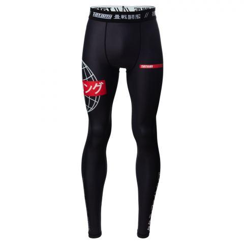 Pantalon de Compression Tatami Fightwear Global - Noir