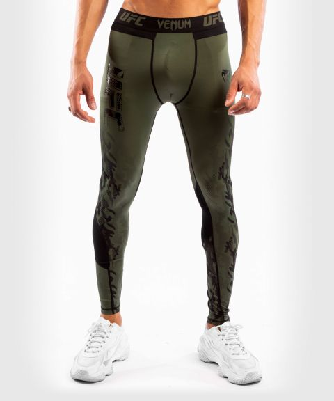 Pantalon de Compression Homme UFC Venum Authentic Fight Week - Kaki