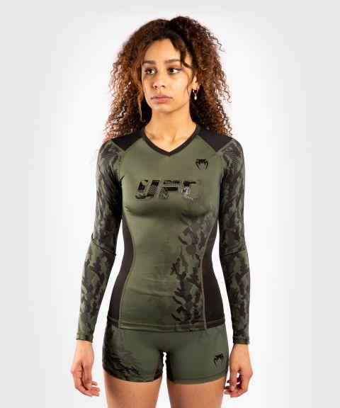 T-shirt de compression Manches longues Femme UFC Venum Authentic Fight Week - Kaki