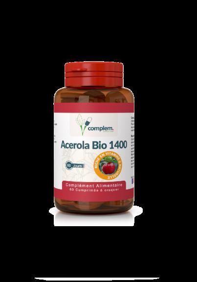 Complem - Acerola Bio 1400 - 60 comprimés