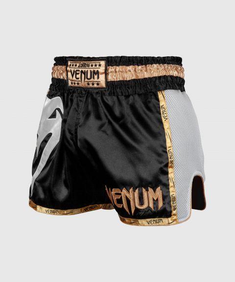 Short de Muay Thai Venum Giant - Noir/Blanc/Or