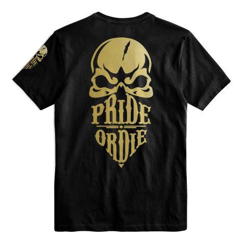 T-Shirt Pride Or Die Reckless Gold - Noir