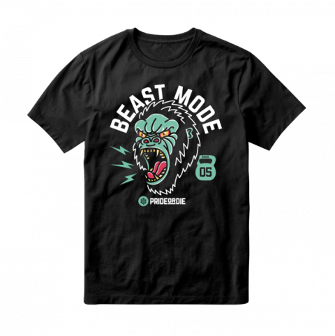 T-Shirt Pride or Die Beast Mode - Noir