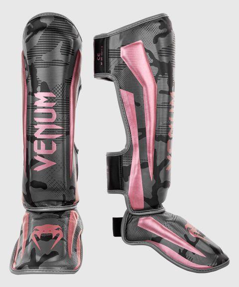 Protège-tibias Venum Elite - Noir/Or rose