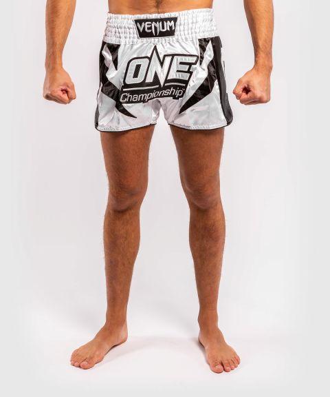 Shorts de muay thai Venum x ONE FC - Blanc/Noir