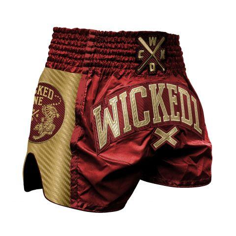 Short de Muay Thai Wicked One Shining - Bordeaux
