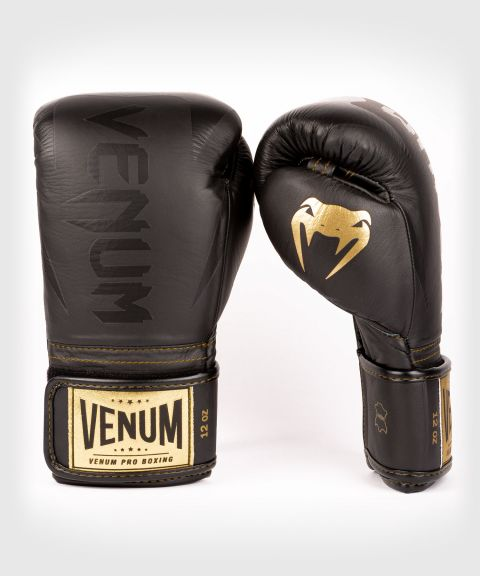 Gants de boxe pro Venum Hammer - Velcro - Noir/Noir-Or