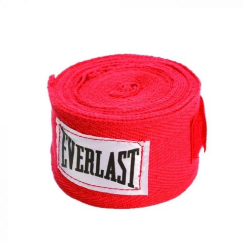 Bandages de Boxe Everlast - 120 cm - Rouge