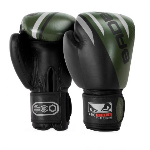 Gants de Boxe Thaï Bad Boy Pro Series Advanced - Noir/Vert