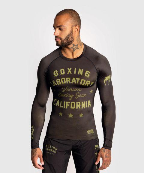 T-Shirt de compression Venum Boxing Lab - Manches longues - Noir/Vert