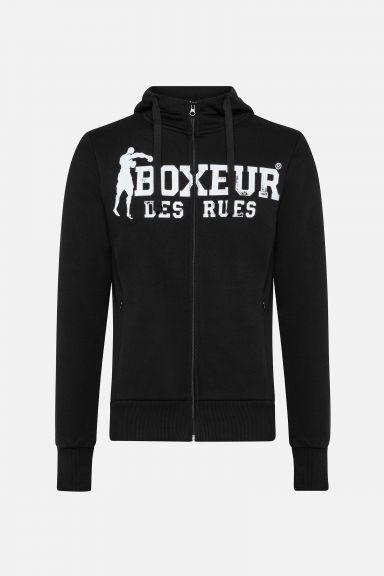 Sweatshirt à zip Boxeur des Rues - Noir