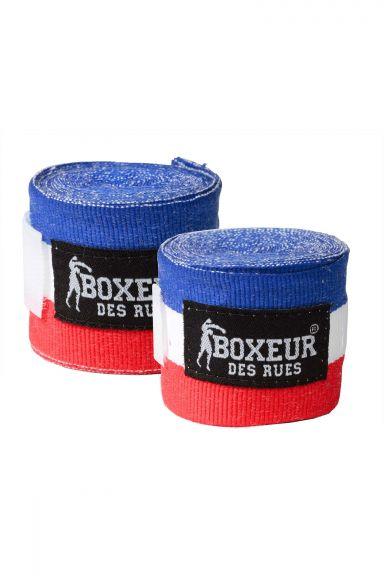 Bandages de boxe Boxeur des Rues - Bleu/Blanc/Rouge