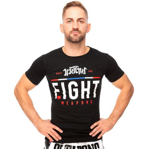 T-shirt 8 Weapons The Fight- Noir